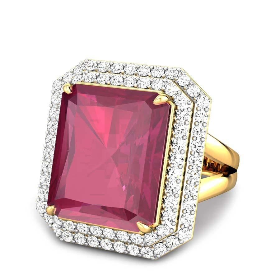 Natalia Red Spinel Ring Online Jewellery Shopping India | Yellow ...