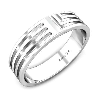 Eric Platinum Band for Him