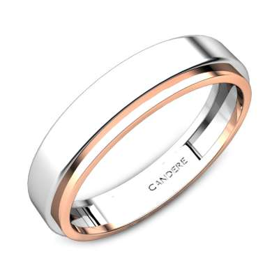 Kirsten Platinum And Rose Gold Band for Her