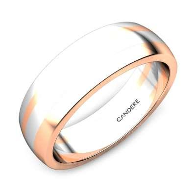 Oprah Platinum And Rose Gold Band for Her