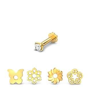 Springtime 4 in 1 Changeable Diamond Nose Pin
