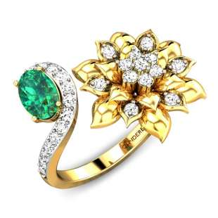 Jewel Of A Flower Diamond Gap Ring