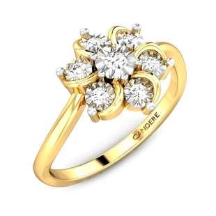 Floral Petals Miracle Plate Diamond Ring FS