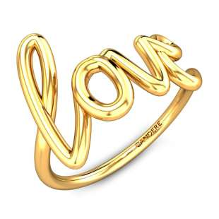 Wired In Love Gold Ring