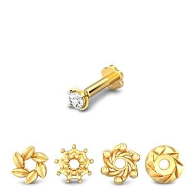 Star Delight 4 in 1 Changeable Diamond Nose Pin FS