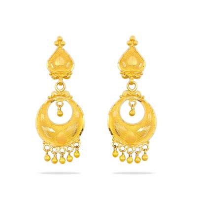 Phalya Kyra Gold Chandbali Earrings