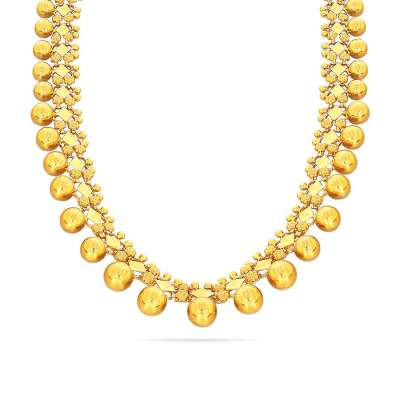 Trishala Chandraharam Kyra Gold Necklace