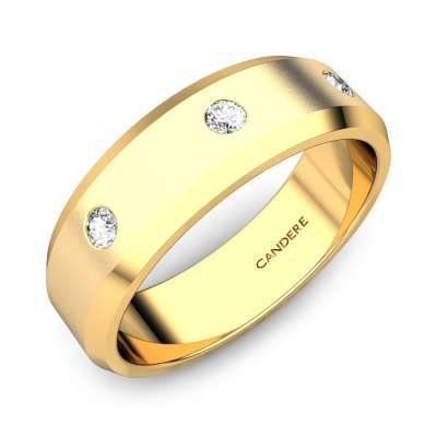 Brad Diamond Wedding Band For Him