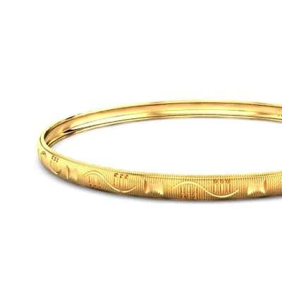 Dimple Gold Bangle FS