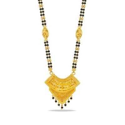 Omisha Sankalp Gold Mangalsutra With Chain
