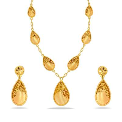 Paari Sankalp Gold Necklace Set
